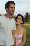 lyckligt teen för par Arkivfoto