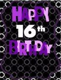Lyckligt 16th födelsedagkort Arkivfoton
