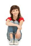 lyckligt tonårs- för carefree flicka arkivbilder