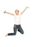 lyckligt tonårs- för carefree flicka royaltyfri fotografi