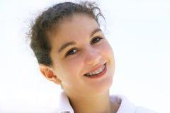 lyckligt tonårs- för flicka Fotografering för Bildbyråer