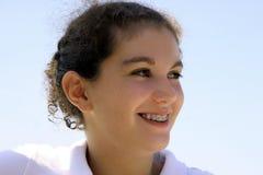 lyckligt tonårs- för flicka Royaltyfria Foton
