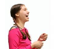 lyckligt tonårs- för flicka Royaltyfria Bilder