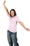 lyckligt tonårs- för flicka Arkivfoto