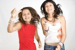 lyckligt tonårs- för flickor Arkivfoto