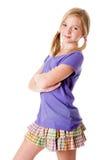 lyckligt tonårs- för mode Fotografering för Bildbyråer