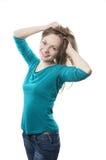 Flirty ung kvinna royaltyfri foto