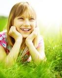 lyckligt utomhus- för barn Royaltyfri Fotografi