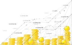 Lyckligt växa upp schema Isolerad illustrationlägenhetlinje symbolsbegrepp av framgång, tillväxt eller förhöjning Royaltyfri Bild
