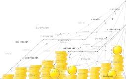 Lyckligt växa upp schema Isolerad illustrationlägenhetlinje symbolsbegrepp av framgång, tillväxt eller förhöjning Arkivbilder