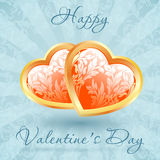 Lyckligt valentin blom- kort för dag Arkivbilder