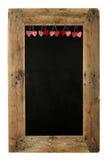 Lyckligt valentin bräde Recl för meny för restaurang för svart tavla för dagförälskelse Royaltyfri Fotografi