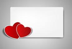 Lyckligt valentindagkort med hjärta. Vektor vektor illustrationer