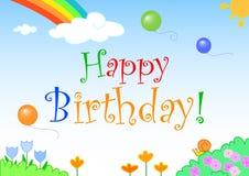 lyckligt vectorial för födelsedag Fotografering för Bildbyråer