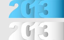 Lyckligt vektorkort 2013 för nytt år Arkivfoto