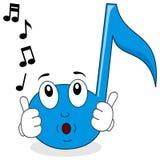 Lyckligt vissla för musikanmärkningstecken Arkivbilder