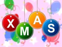 Lyckligt Xmas visar nytt år och festligt Arkivfoto