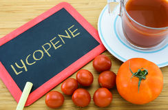 Lycopene in Tomato. Lycopene is a red carotenoid pigment found in tomato Royalty Free Stock Photography