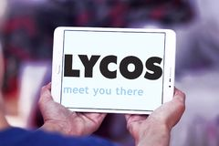 Lycos网搜索引擎商标 图库摄影