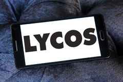 Lycos网搜索引擎商标 库存图片