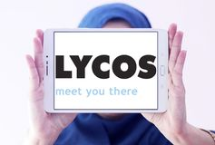 Lycos web search engine logo Stock Image