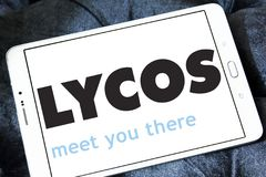 Lycos web search engine logo Royalty Free Stock Image