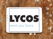 Lycos web search engine logo Stock Photo
