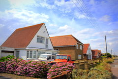 Lydd-on-Sea Kent United Kingdom. New bungalows in Lydd-on-Sea village Kent United Kingdom Stock Photo