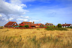 Lydd-on-Sea village England United Kingdom. Dungeness Nature Reserve and Lydd-on-Sea village.Lydd-on-Sea is a modern village, mostly built after World War II Royalty Free Stock Images