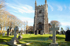 Lydford Church dartmoor devon uk stock image