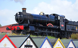 Lydham庄园7827蒸汽引擎 免版税库存图片
