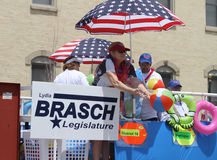 Lydia Brasch for Legislature parade in small town America Stock Photo