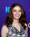 "Lydia Hearst. Model Lydia Hearst arrives on the red carpet for the New York premiere of the third season of the hit HBO cable comedy ""Girls, "" at royalty free stock photo"