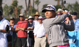 Lydia Ko at the ANA inspiration golf tournament 2015 Stock Photos