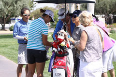 Lydia Ko przy ANA inspiraci golfa turniejem 2015 Zdjęcie Royalty Free