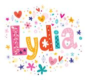 Lydia kvinnligt namn royaltyfri illustrationer