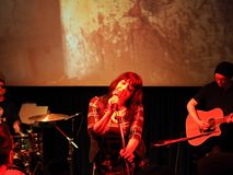 Lydia Lunch concert in Turin Stock Photos