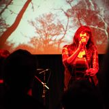 Lydia Lunch concert in Turin Stock Photo