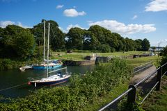 Lydney-Hafen Gloucestershire Stockbilder