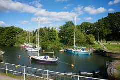 Lydney hamn Gloucestershire Royaltyfria Foton