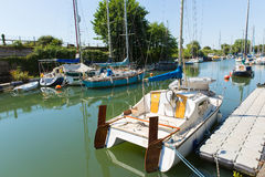 Lydney harbour Gloucestershire England uk with boats in summer Royalty Free Stock Image