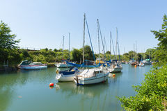 Lydney harbour Gloucestershire England uk on the west bank of the River Severn close to the Forest of Dean and Wye valley Royalty Free Stock Images