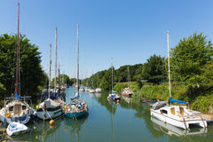 Lydney harbour Gloucestershire uk with boats in summer Royalty Free Stock Images