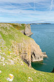 Lydstep Point Pembrokeshire Wales Royalty Free Stock Images