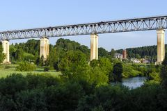 The LyduvÄ—nai Railway Bridge in Lithuania. It is located in Lyd royalty free stock image