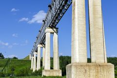 The LyduvÄ—nai Railway Bridge in Lithuania. It is located in Lyd stock images