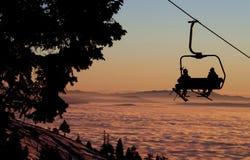 lyft skidar Royaltyfria Bilder