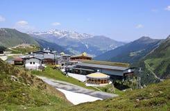 Lyft stationen på Sommerbergalmen i Österrike Royaltyfri Bild