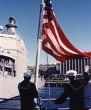 lyfta för flagga Royaltyfri Foto