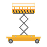 lyftande lager för plattformspårvagnmateriel Fotografering för Bildbyråer